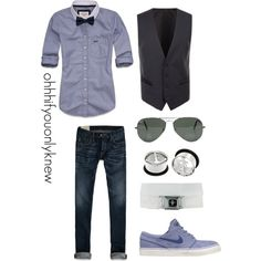 A fashion look from April 2013 featuring Abercrombie & Fitch tops, NIKE shoes and Ray-Ban sunglasses. Browse and shop related looks.