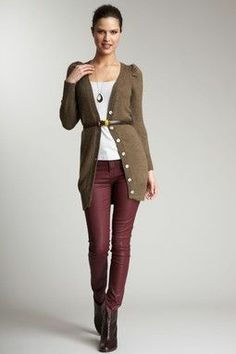 Burgundy and deep taupe is a winning combo