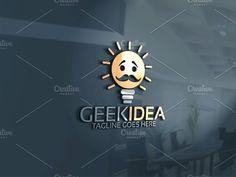 Geek Idea Logo by Josuf Media on @creativemarket
