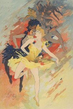 La Danse (Four Arts) by Cheret Jules vintage poster