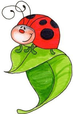 Mauve clipart ladybug - pin to your gallery. Explore what was found for the mauve clipart ladybug Art Drawings For Kids, Easy Drawings, Art For Kids, Arte Country, Country Style, Creation Art, Clip Art, Fabric Painting, Rock Art