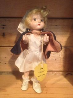 Vintage Composition  1939 Edith Your Nurse Doll  by Colbyscreek, $49.99