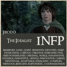 "When we gave each of us 9 sibs one of the fellowship to ""be"" I got Frodo and always objected but I guess I really am!"