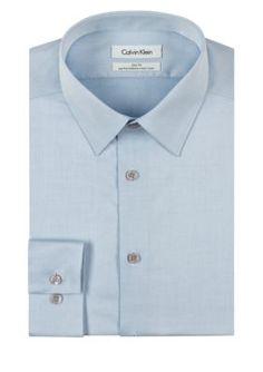 Calvin Klein Blue Steel Non-Iron Performance Slim Fit Dress Shirt