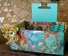 Kraaft Shaak Mixed Media Kit Design Team Kill the Box Shel Dana Sandra Heather Desk Organization, Cool Diy, Gift Wrapping, Diy Ideas, Projects, Design, Gift Wrapping Paper, Log Projects, Blue Prints