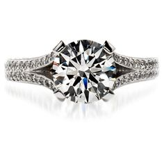 My Wish! It's called Wondrous Solitaire  Brilliant diamonds ascend the stem of a glorious Hearts On Fire diamond engagement ring. Available in platinum.