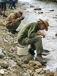 On our Alaska Highway road trip, we didn't see anyone panning for gold in the Yukon. But the evidence, including sluices, was all around us. Have you panned for gold on a trip to the Yukon?