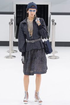 """Karl Lagerfeld was inspired by flight and constructed a replica air terminal titled """"Chanel Airways"""" for the brands runway show yesterday, for Paris Fashion Week. Description from highfashionliving.com. I searched for this on bing.com/images"""