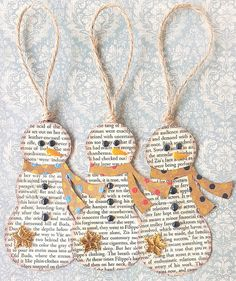 Snowmen ornaments Snowmen ornaments Related posts: Fingerprint heart ornaments DIY Fabric Covered Tree Ornaments Laminated snowglobe ornaments for kids to make for Christmas gifts/crafts! You c… DIY Embroidery Hoop Christmas Ornaments Christmas Crafts For Kids, Diy Christmas Ornaments, Book Crafts, Christmas Projects, Holiday Crafts, Snowman Ornaments, Ornaments Ideas, Homemade Ornaments, Paper Christmas Ornaments
