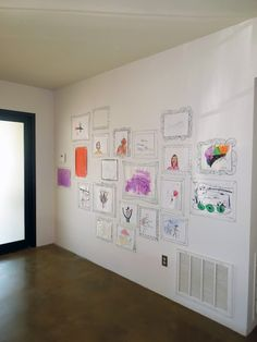 suchity such: Art Gallery display wall for kid art