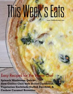 THis Week's Eats at $5 Dinners with Free Weekly Meal Plan