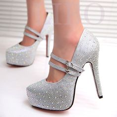 GAORUI Women High Heels Prom Wedding Shoes Crystal Platforms Glitter Heels  Rhinestone Bridal Shoes Thin Heel Lacing Party Pump-in Women s Pumps from  Shoes ... 6856935c1685