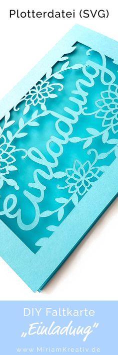 Erstelle mit dieser Plotterdatei (SVG) und deinem Plotter im Handumdrehen diese edle und filigrane Einladungskarte für alle Anlässe! Eine Plotterdatei für einen passenden Umschlag und zusätzliche Add-ons stehen für dich als Freebie völlig kostenlos zum Download bereit....