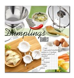 GearBest Dumplings by beebeely-look on Polyvore featuring interior, interiors, interior design, home, home decor, interior decorating, Juliska, Outdoor Oasis, MacKenzie-Childs and Couzon