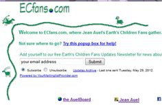 """4D. A huge international site for Earth's Children fans to gather, discuss, debate, and collate information (including fan fiction), with lots of non-English discussions, as well. Again, spoilers! [Find the humorous """"Ursus the Cookbook"""" celebrating the board's 10th anniversary here: http://www.cafepress.com/ec10.58577023]"""