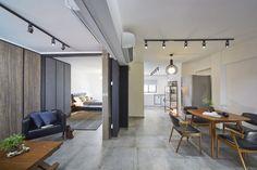 Sago Lane, HDB Interior Design, Living & Dining Room.