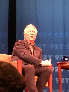 Alan Rickman at the 92nd St Y, New York, New York. June 18, 2015.  What an inviting look!  photo by Carlotta Barnes