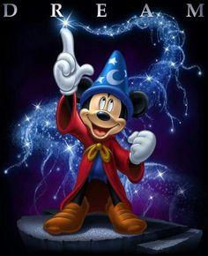 ☆ Dream :¦: By Artist Tom Wood ☆ Mickey Mouse Sorcerer's Apprentice Disney Pixar, Fantasia Disney, Disney Fun, Disney Animation, Disney Movies, Walt Disney, Disney Characters, Mickey Mouse Art, Mickey Mouse Wallpaper
