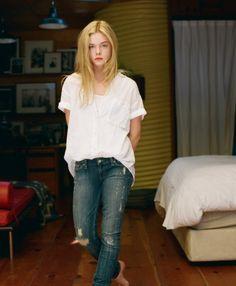 white tee + jeans.