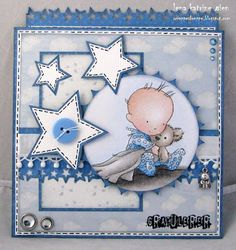 Cards made using Lili of the Valley baby stamps
