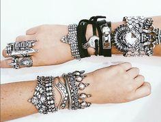 Dylanlex || Jewels || Arm Candy || Black Leather || Silver || JoJo Wrap