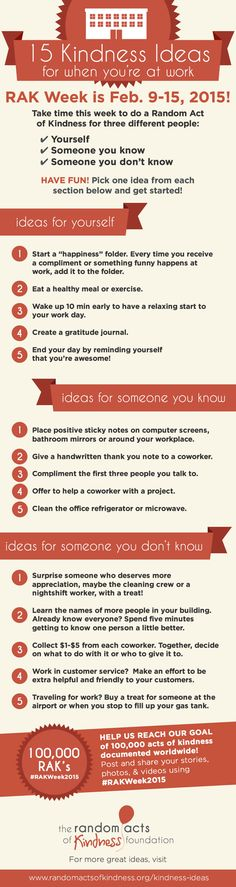 15 Kindness Ideas for when you're at the office #RAKWeek2015