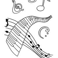 coloring pages for adults music