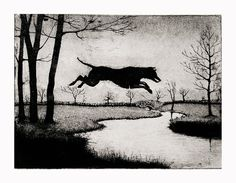 Leaping Hound by timsouthallart on Etsy, £160.00