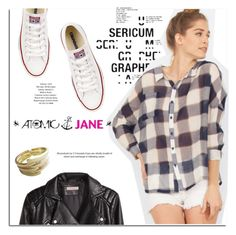 """""""Atomic Jane"""" by atomic-jane ❤ liked on Polyvore featuring мода, Converse и H&M"""