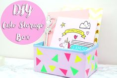 DIY cute storage box