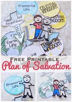 LDS Lane: Family Home Evening Series: Plan of Salvation Fhe Lessons, Primary Lessons, Object Lessons, Lds Primary, Family Home Evening Lessons, Sunday School Lessons, Activity Day Girls, Activity Days, Church Activities