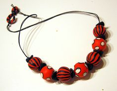Beads from one of my polymerclay for beginners class - Polymerclay by KVJ