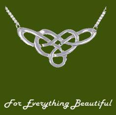 Celtic Endless Linked Knotwork Design Stylish Pewter Pendant