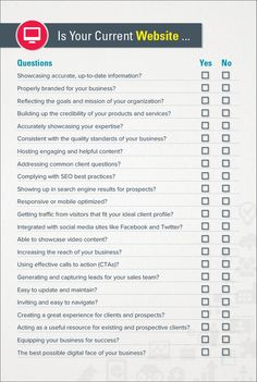 Complete Website Checklist Is your Website doing the job? Here's a checklist. Complete W Business Website, Business Tips, Online Business, Job Website, Seo Marketing, Online Marketing, Marketing Ideas, Content Marketing, Web Design Tips