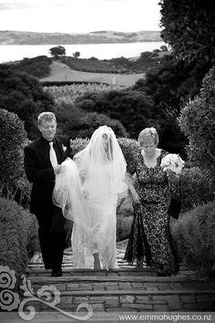 Arriving at Mudbrick Vineyard for the wedding ceremony