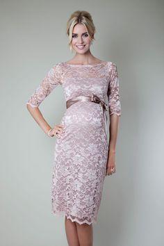 f6ebddda3f36 Amelia Lace Maternity Dress Short (Vintage Rose) - Maternity Wedding  Dresses