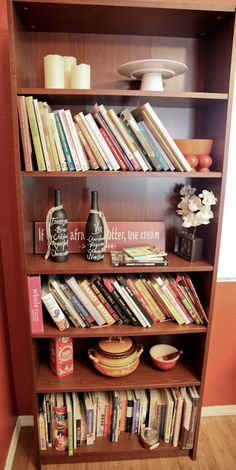 "Is your cookbook shelf a mess?  Learn ""How to Display a Cookbook Collection!"""