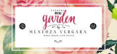 Garden font by Mendoza Vergara - a family of inspiration, freshness and art