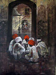 suresh gosavi - Google Search Watercolor Pictures, Watercolor Art, Indian Art Gallery, Indian Contemporary Art, Indian Art Paintings, Acrylic Paintings, India Art, Native American Art, Art Studios