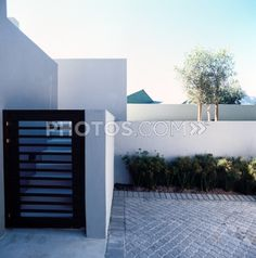 Royalty-Free Images: Front Gate Of A Modern Beach House