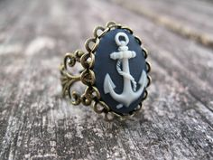 Anchors Away --Nautical Inspired Ring.