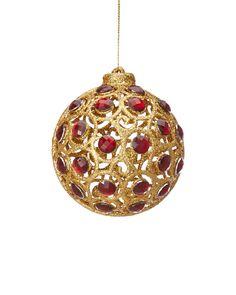 Set of Six Jeweled Ornaments