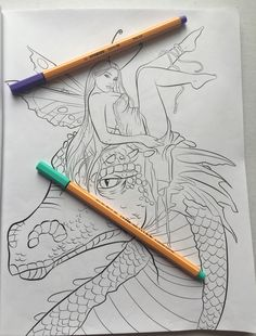 Adult Colouring Coloring Mindfulness Fairies Dragon Fantasy Colored Colour Color Stress Relief Selina Fenech Depression
