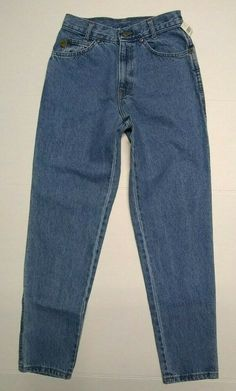 """vtg USA CHIC jeans 5 short slim fit tapered ankle stonewashed high waist 26"""" #CHIC #Mom Guess Jeans, Mom Jeans, Levis 517, General Store, Blue Denim, High Waist, Jeans Size, Slim, Ankle"""