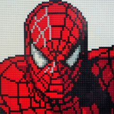Spiderman Lego Mosaic by Oxford Brick Art Spiderman Pixel Art, Manual Lego, Pixel Art Super Heros, Grille Pixel Art, Cross Stitch Designs, Cross Stitch Patterns, Pixel Art Minecraft, Marvel Cross Stitch, Modele Pixel Art
