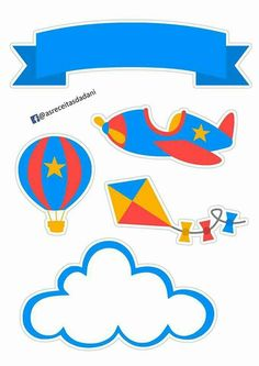 Transportation Party, Airplane Party, Busy Book, Baby Scrapbook, Travel Themes, Flower Backgrounds, 1st Birthday Parties, Party Themes, Clip Art