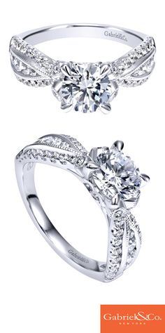 Your bride-to-be deserves a breathtaking engagement ring! When you are ready to pop the question make sure its with this unique contemporary 14k white gold diamond straight engagement ring. Discover this perfect engagement ring or customize your own at Gabriel & Co.