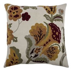 Rizzy Home Vintage Floral Throw Pillow, Multicolor