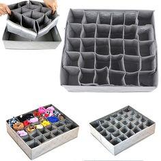 1 pcs 30 slots Folding Armazenamento Box Container para Lingerie Underwear Bra Gravata Gravata Organizador de Meias, absorve Odores Saco AKA00076 6 em Ciaxas de armazenamento & lixo de Home & Garden no AliExpress.com | Alibaba Group