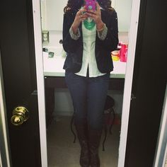 Blazer and boots